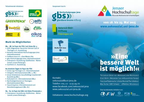 Flyer - Hochschultage Jena 2015