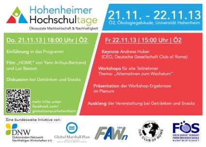 Flyer Hochschultage Hohemheim 2013