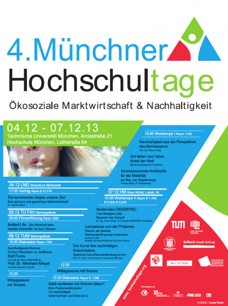 Plakat Hochschultage München 2013
