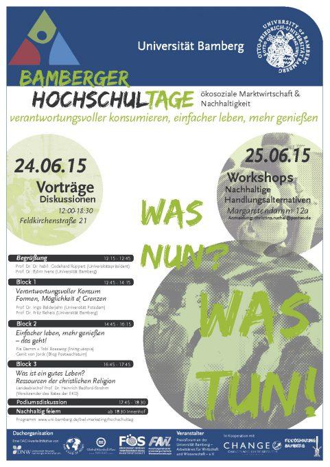 Plakat Hochschultage 2015 - Bamberg