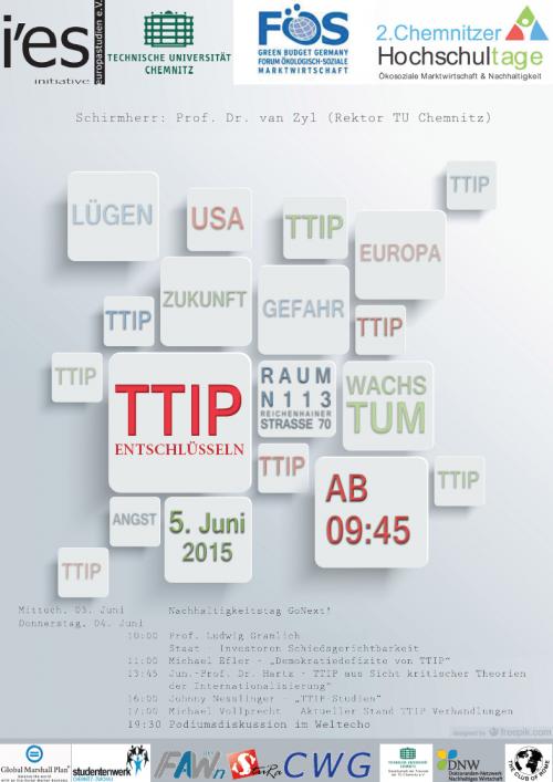 Plakat Hochschultage Chemnitz 2015