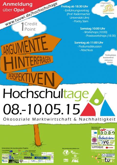 Plakat Hochschultage 2015 - Dresden