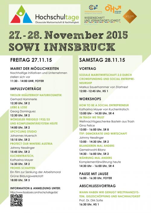 Programm HST Innsbruck 2015