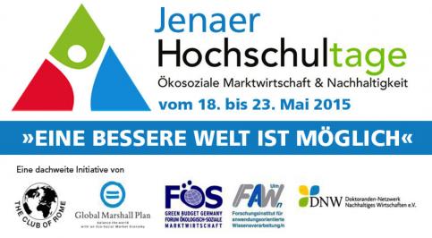 Banner - Hochschultage Jena 2015