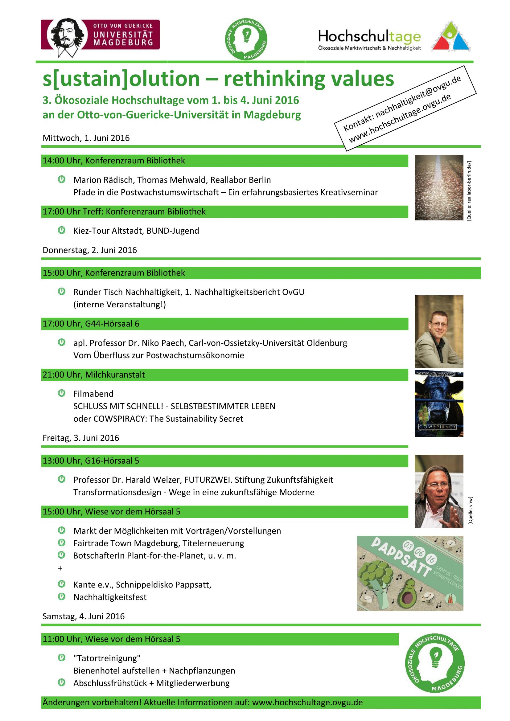 sustainolution 3. Âkosoziale Hochschultage OvGU 1